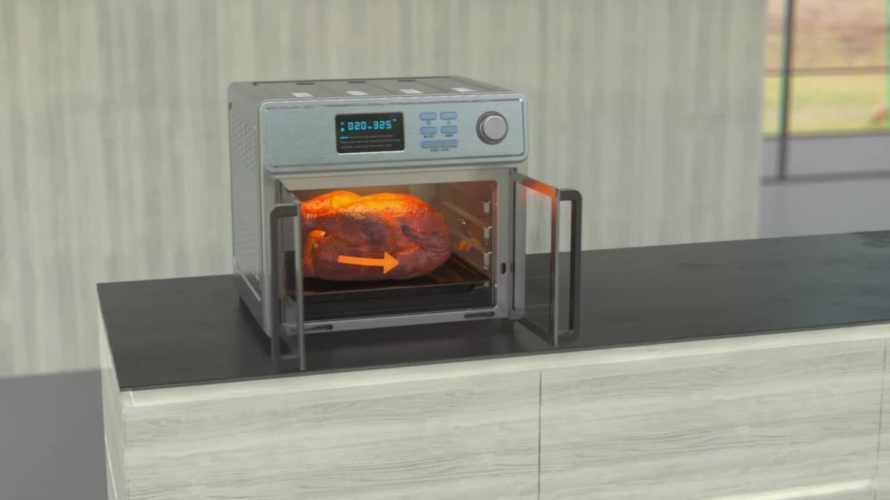 AFO 46045 SS Air Fryer Oven 3D