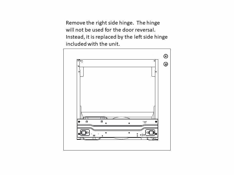 MAGIC CHEF HMDR1000 Door Reversal