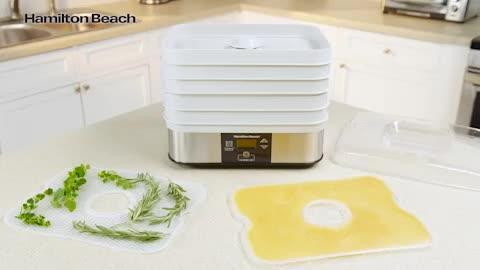 Hamilton Beach - 5-Tray Stainless Steel Food Dehydrator with Programmable Settings