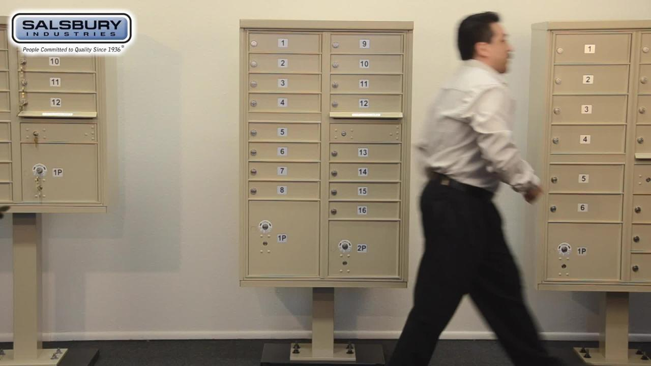 Salsbury Industries Black Usps Access Cluster Box Unit With 8 A Size Doors And Pedestal 3308blk U The Home Depot