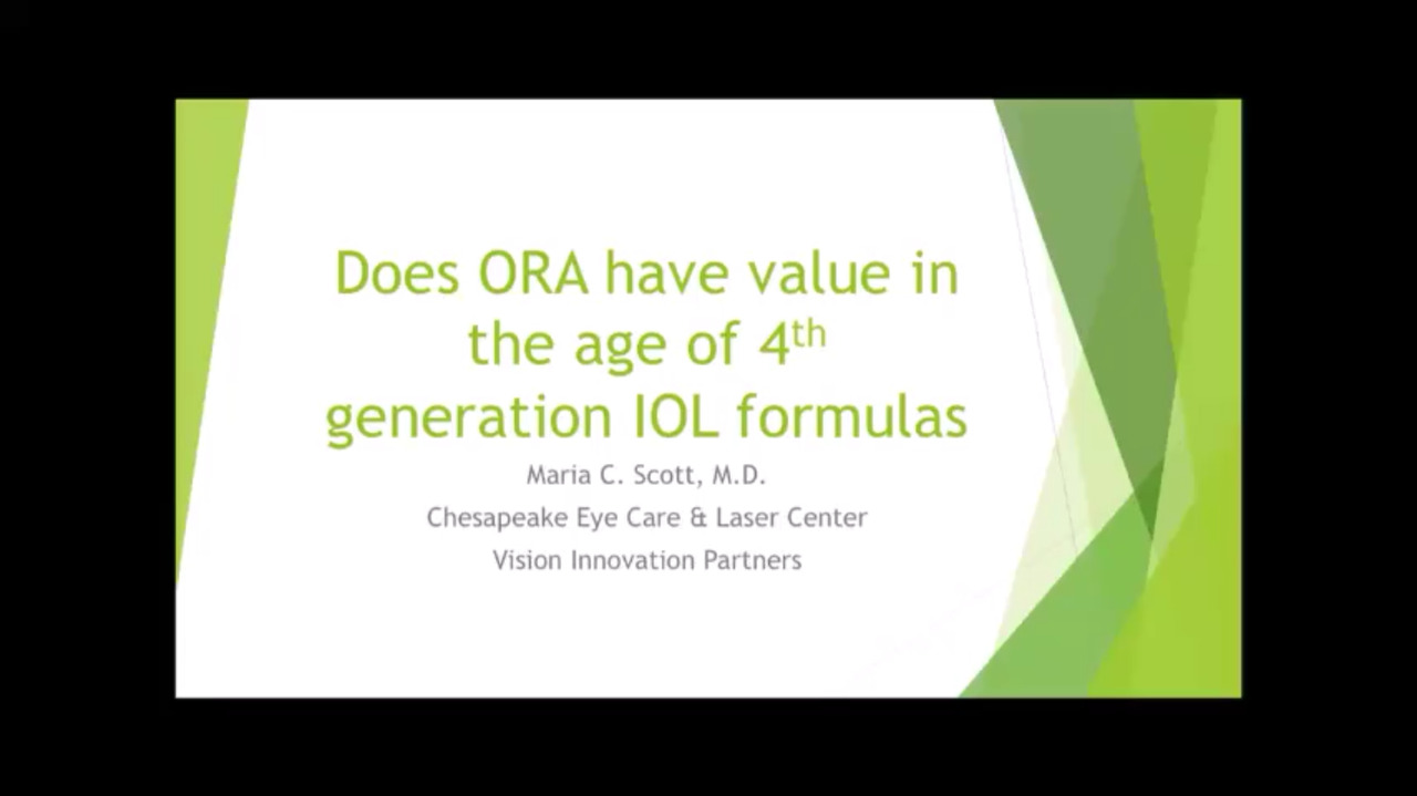 VIDEO: Is ORA valuable in light of newer IOL formulas