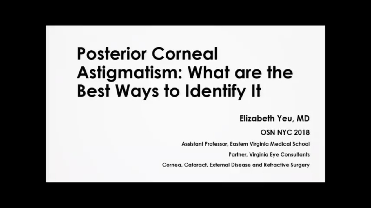 VIDEO: How best to identify posterior corneal astigmatism