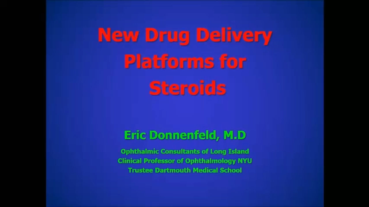 VIDEO: Updates on new steroid delivery platforms