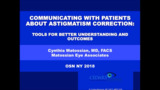 VIDEO: Tools for communicating with patients about astigmatism correction