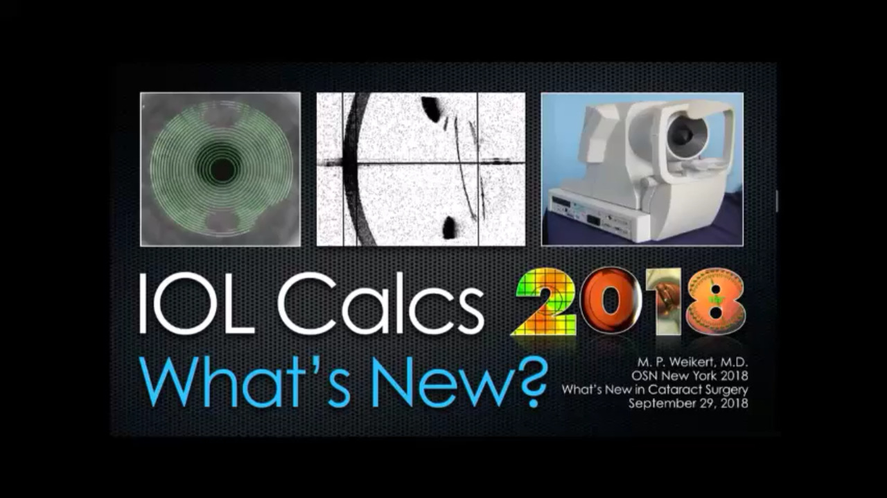 VIDEO: What's new in IOL calculations