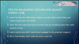 VIDEO: Team creation important in balancing volume, quality care