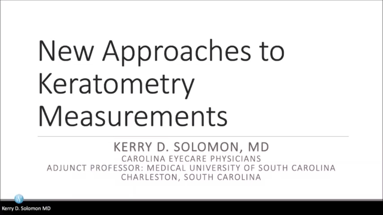 VIDEO: New approaches to keratometry measurements