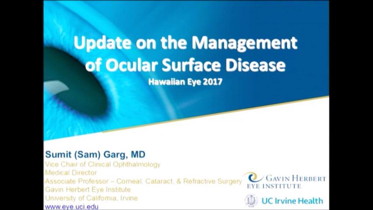 Ocular Surface Disease: Medical and Surgical Management