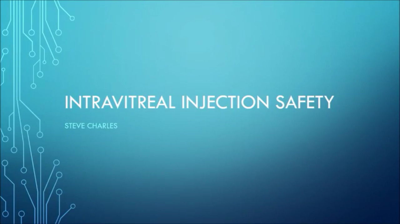 VIDEO: Pearls for performing safe intravitreal injections