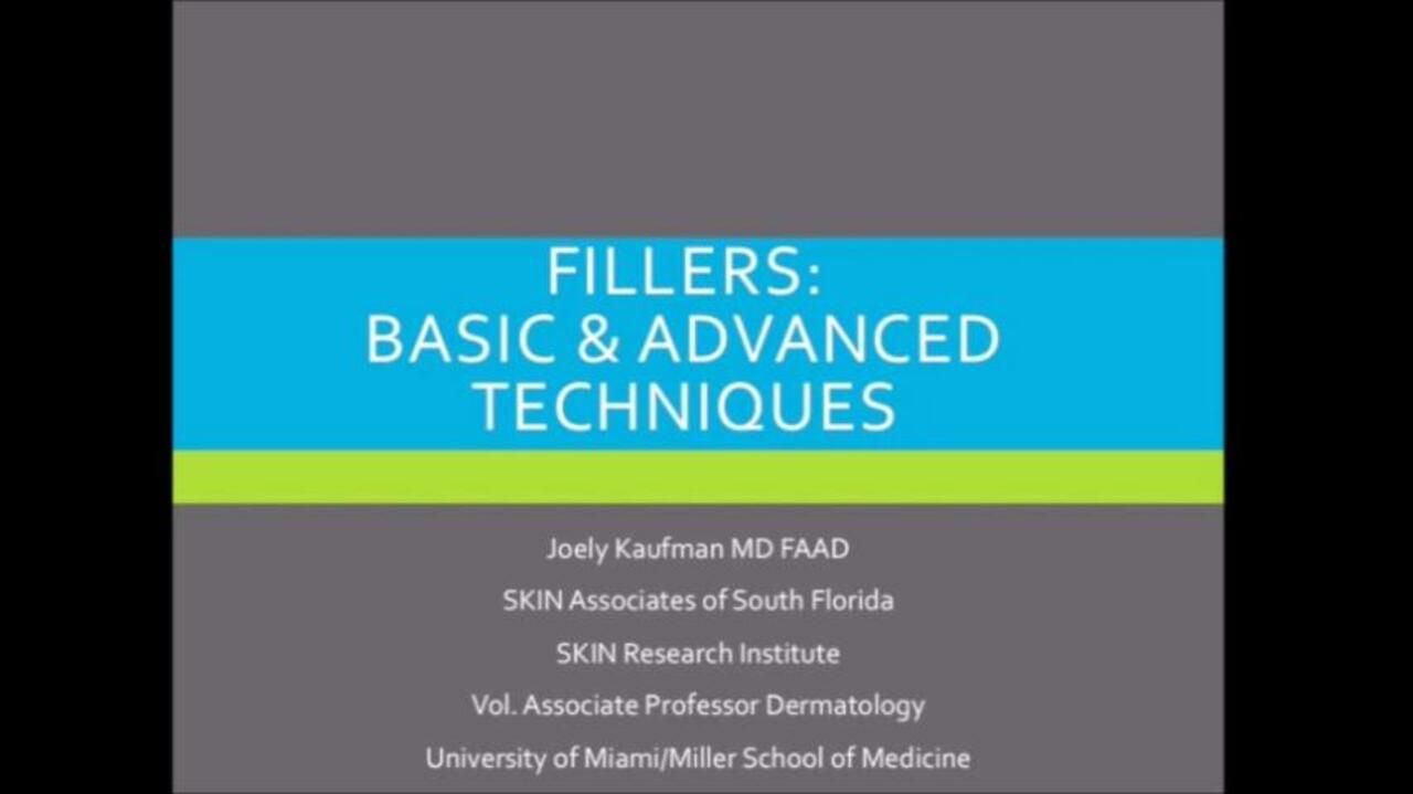 VIDEO: Knowledge of filler product profiles as important as injection technique