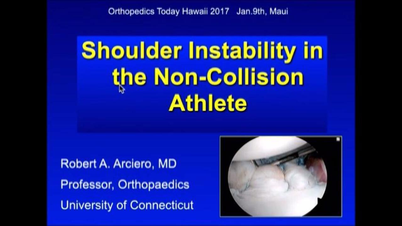 VIDEO: Arciero discusses arthroscopic Bankart repair for shoulder instability in non-collision athletes