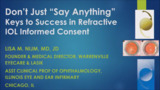 VIDEO: Informed consent key to success in refractive IOL surgery