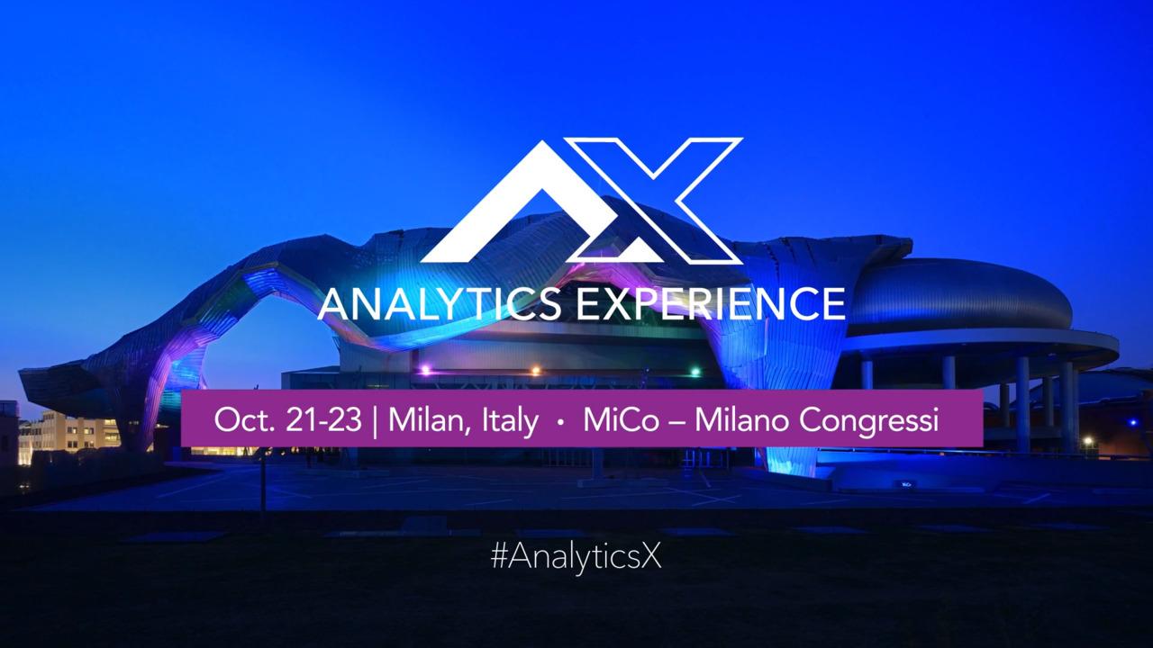 Analytics Experience 2019 - Milan, Italy | SAS