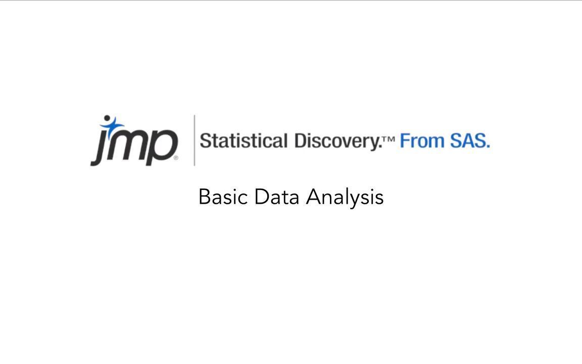 Core Capabilities Of JMP
