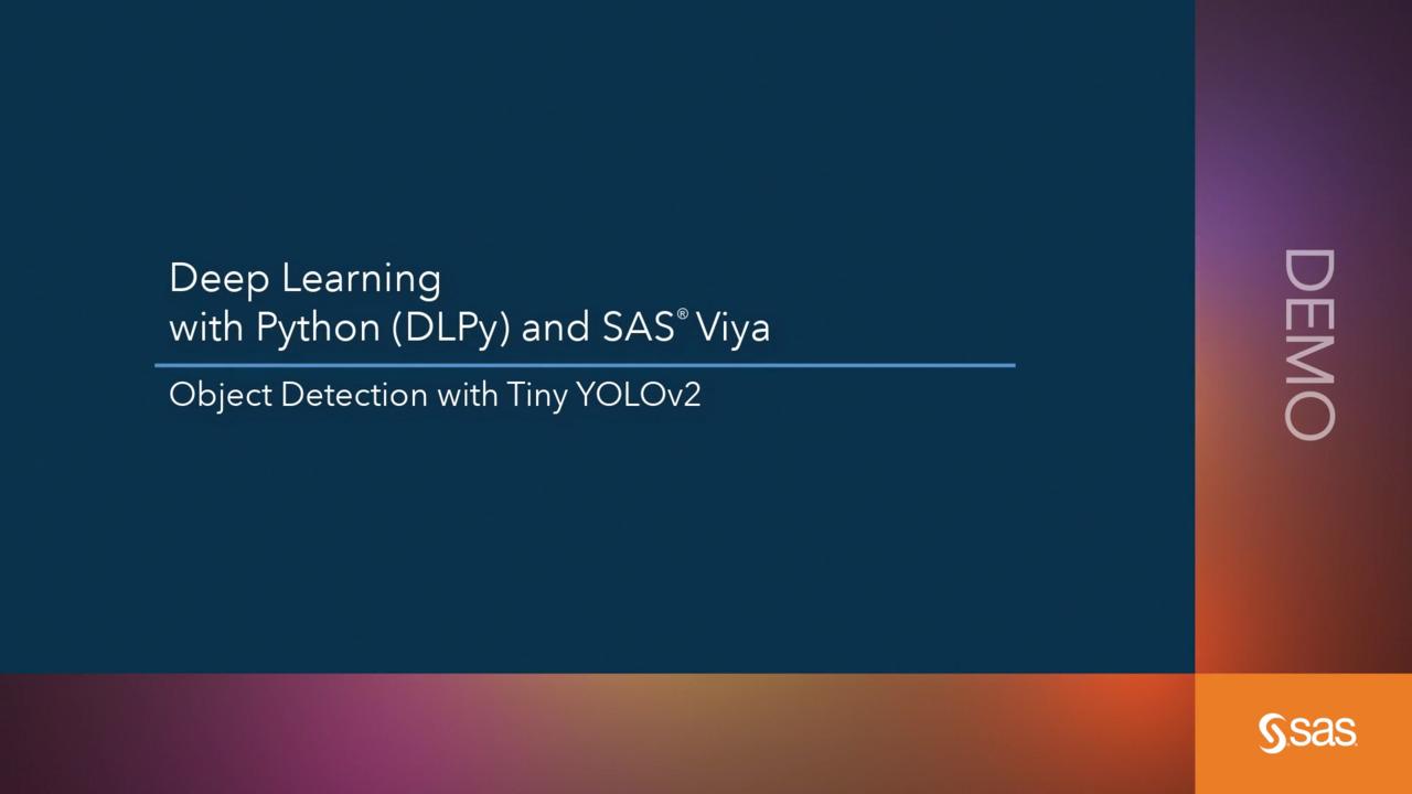 Building a YOLO object detection model using SAS - The SAS Data