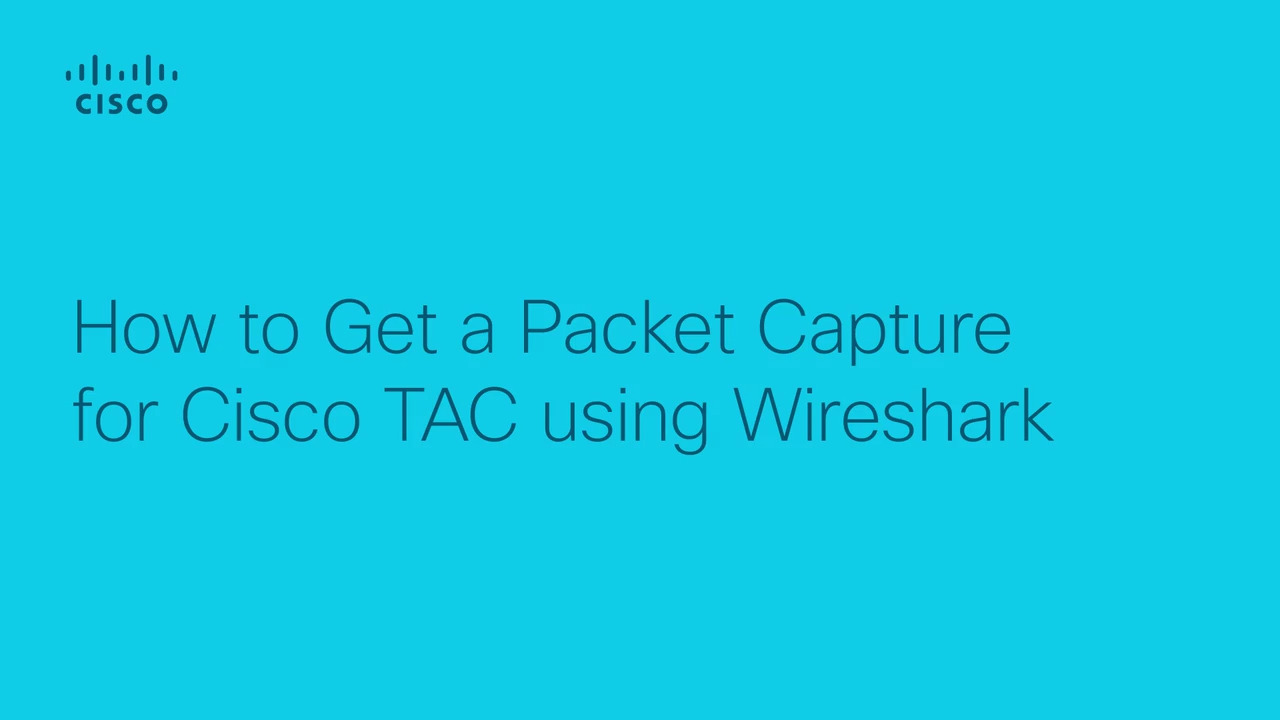 Obtaining a packet capture using Wireshark
