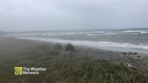 HIGH WAVES AS HURRICANE TEDDY APPROACHES NOVA SCOTIA