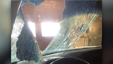 MAN'S DRAMATIC INJURIES SHOW THE DANGERS FLYING ICE CAN POSE ON THE HIGHWAY
