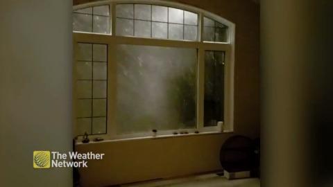 WAVES OF HAIL CRASH INTO SASKATCHEWAN HOME LIKE SOMETHING NEVER SEEN BEFORE