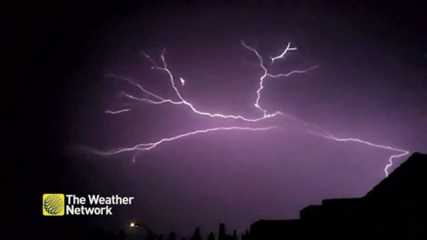 SKIES LIGHT UP IN CALGARY AS SEVERE WEATHER STRIKES