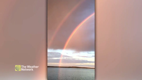 THIS NEAR PERFECT DOUBLE RAINBOW LIGHTS UP THE SKY IN B.C.