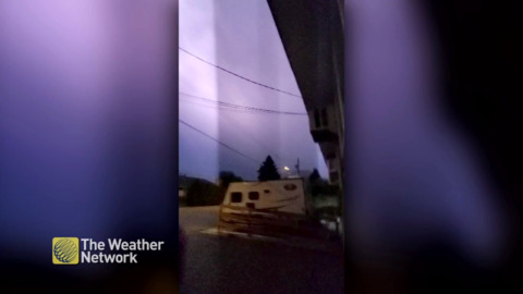 'THAT WENT RIGHT THROUGH MY ARM': MAN FEELS THE SHOCK WHEN LIGHTNING STRIKES