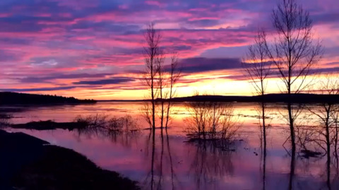 STUNNING NEW BRUNSWICK SUNSET DOESN'T LOOK REAL OVER FLOODING