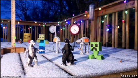 TOYS LOSE BATTLE TO WINTER STORM, GET COMPLETELY BURIED IN TIMELAPSE VIDEO