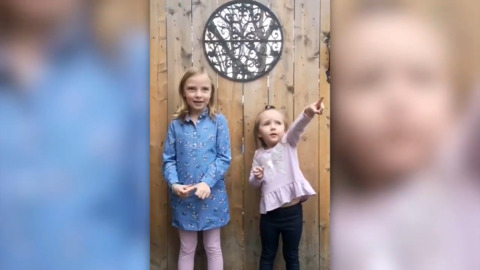 TWO ADORABLE KIDS DELIVER THEIR BEST BACKYARD WEATHER FORECAST