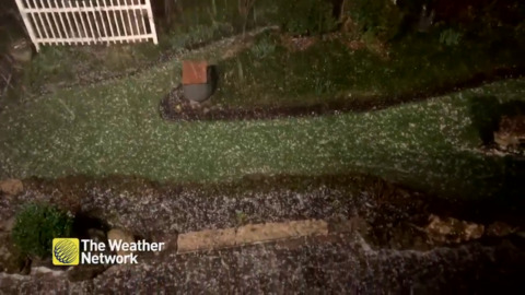 THE BEST VIEWER FOOTAGE OF LAST NIGHT'S HAIL STORM IN SOUTHERN ONTARIO