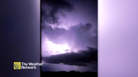 LIGHTNING FLASHING WILD OVER SASKATCHEWAN SKY