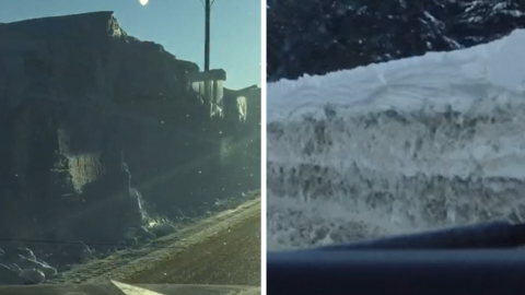 COMPARING SNOWBANKS COAST TO COAST AFTER HISTORIC SNOWFALL IN BC AND NL