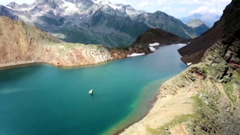 AUSTRIAN PAIR GO FOR A RIDE ON THE COUNTRIES HIGHEST MOUNTAIN LAKES