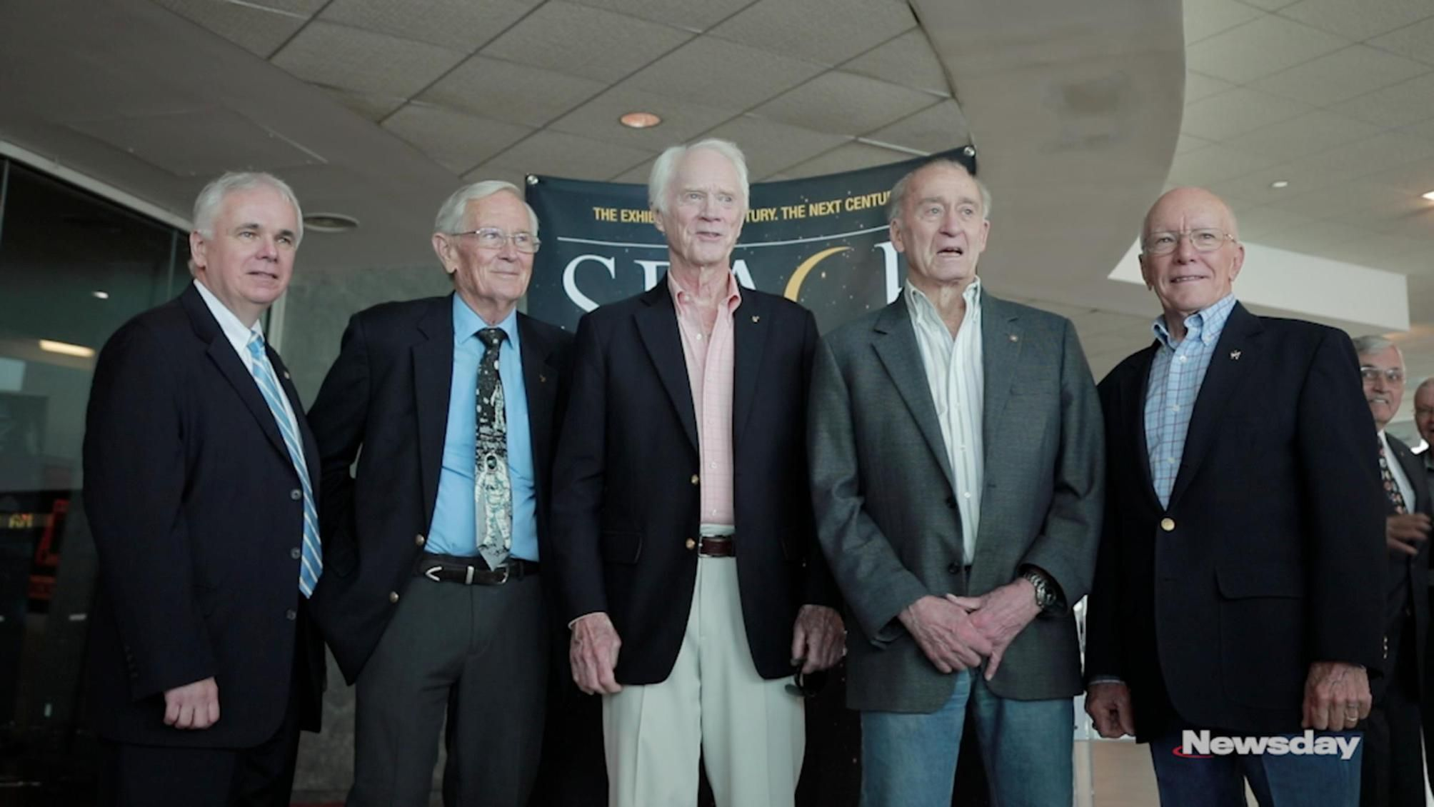 Astronauts, Grumman workers reunite at Apollo 50th anniversary event at museum