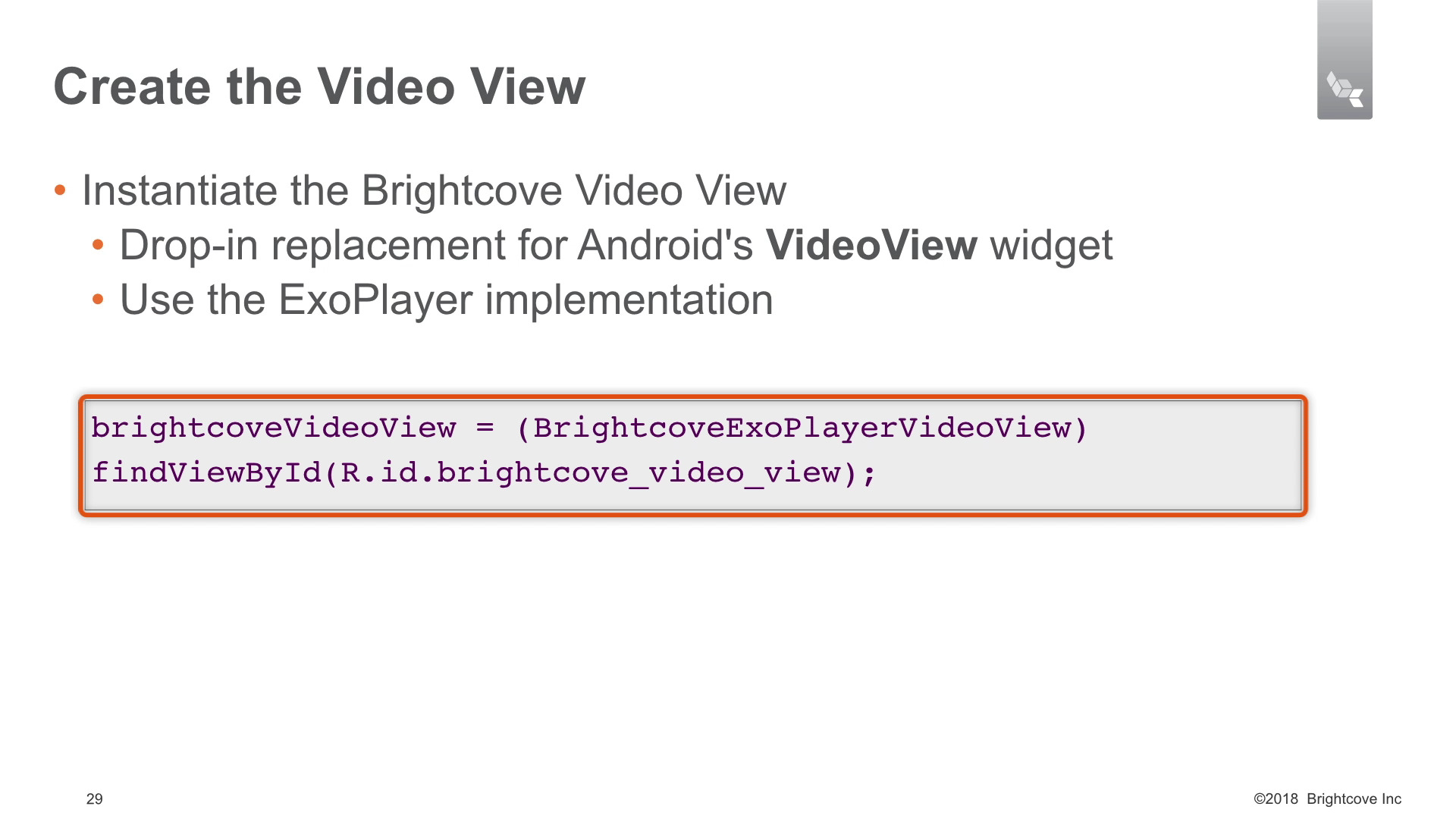 Creating the video view