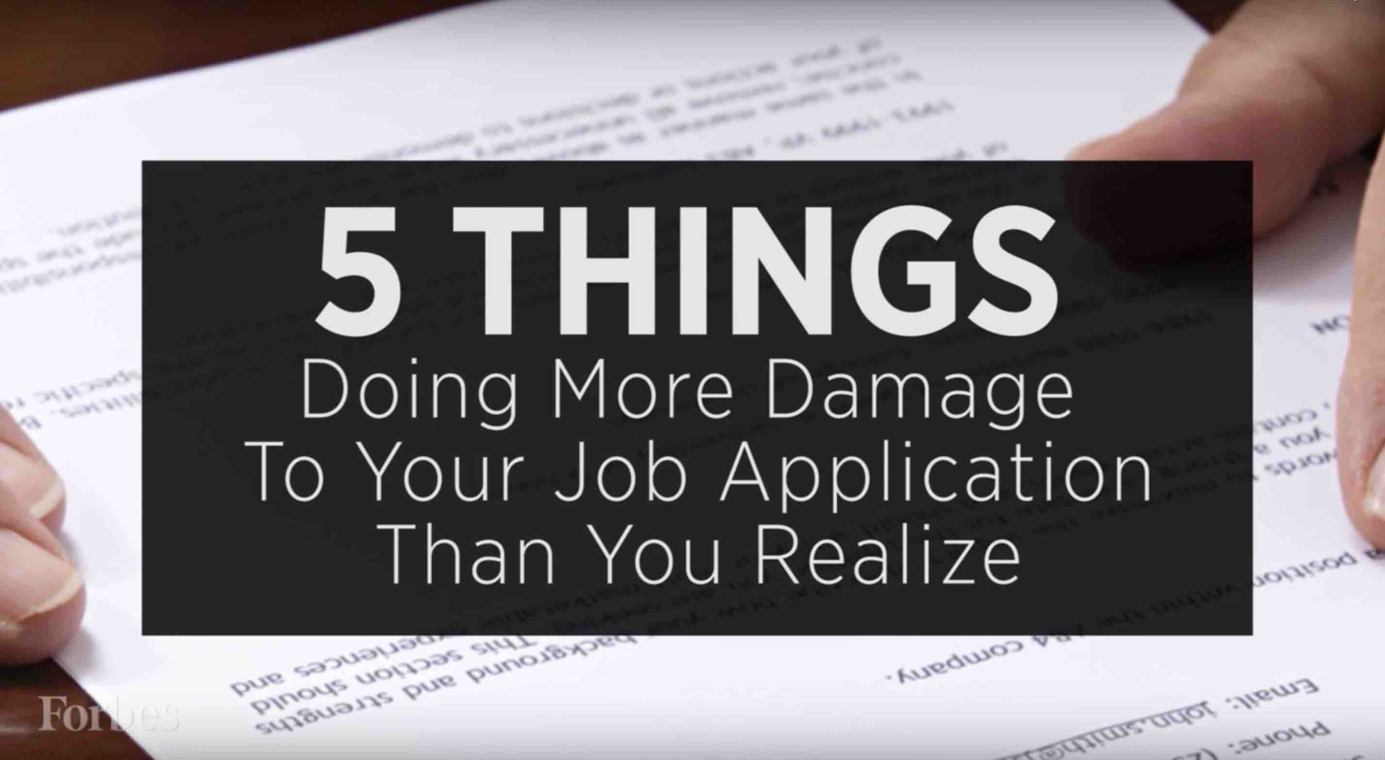Ten Things Never, Ever To Include On Your Resume