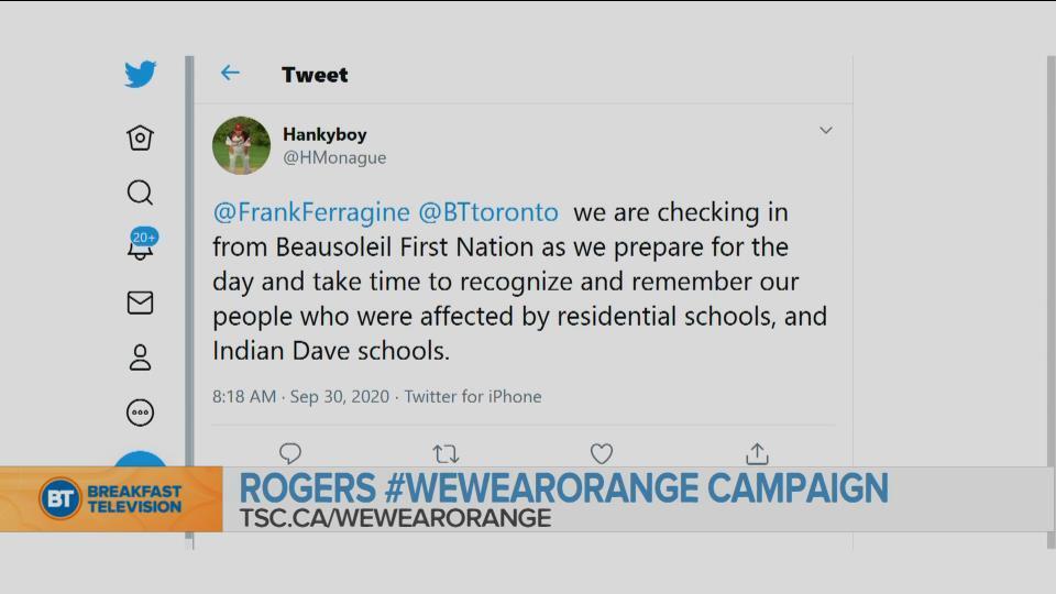 BT National Tweets: Orange Shirt Day 2020