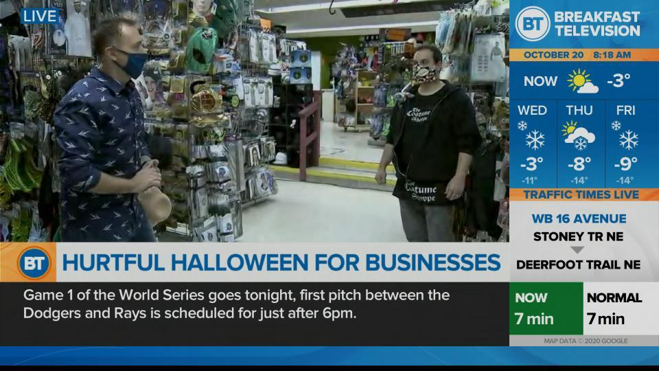 On Location :Calgary Costume Shoppe prepares for Halloween amid pandemic