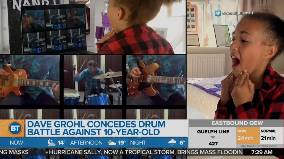 BT Bright Spot: Dave Grohl concedes drum battle against 10-year-old