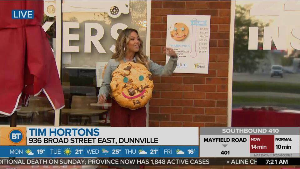 Nicole is LIVE at Tim Hortons (2 of 4)