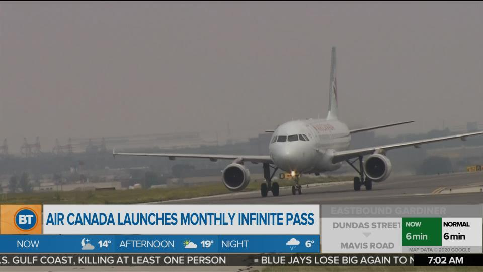Air Canada launches monthly infinite flight pass