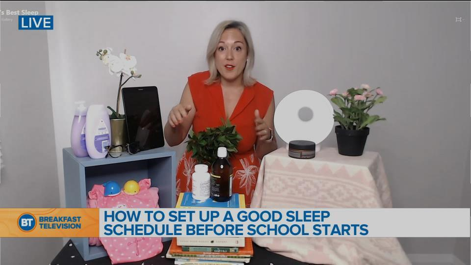 How to set up a good sleep schedule before school starts