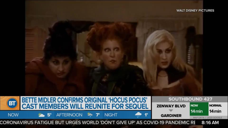 BT Entertainment: Bette Midler confirms original 'Hocus Pocus' cast members will reunite for sequel