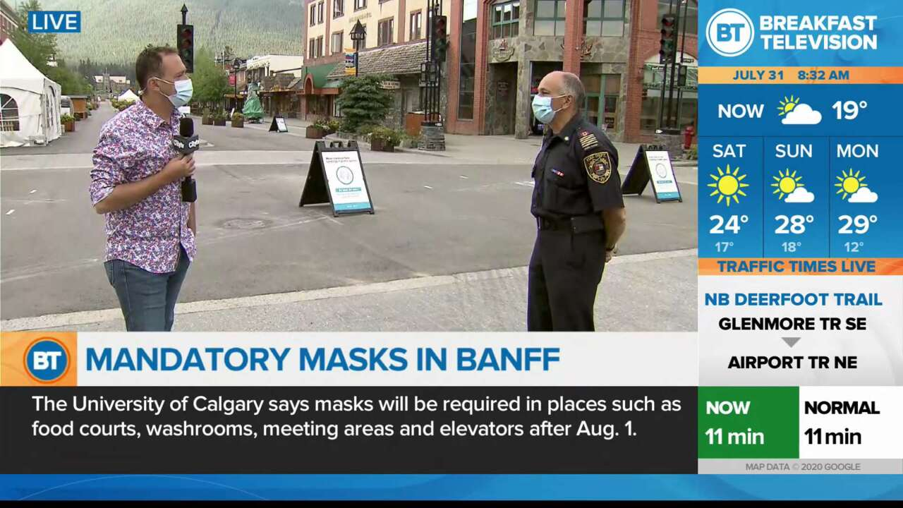 On Location: Mandatory Masks in Banff Part 2