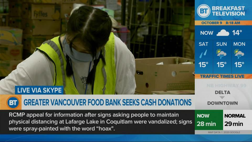 Greater Vancouver Food Bank seeks cash donations