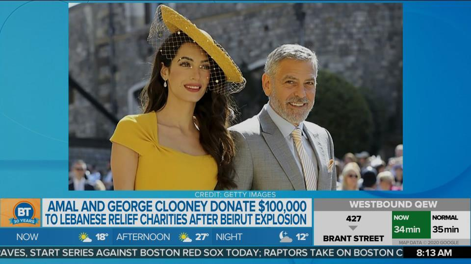 Amal and George Clooney donate $100K to Lebanese relief charities