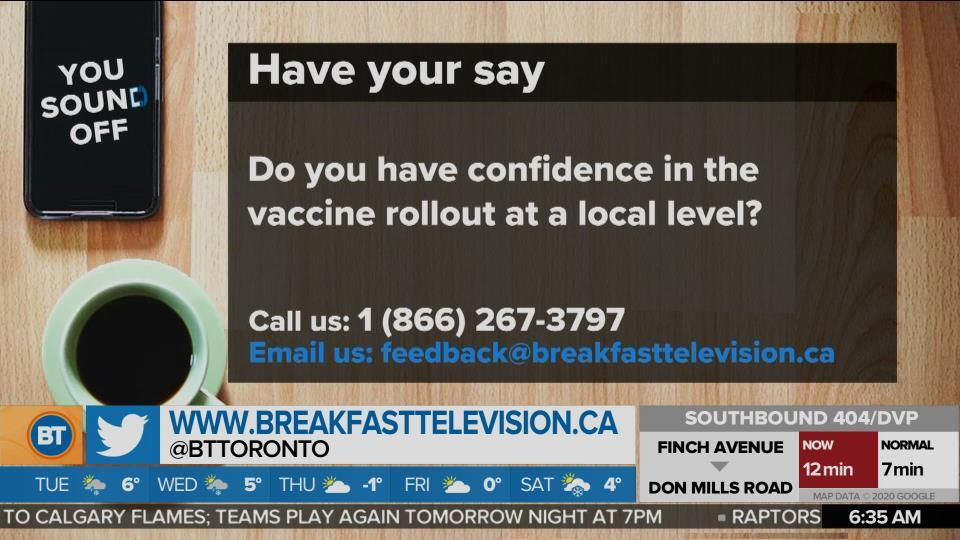Do You Have Confidence in the Vaccine Rollout at a Local Level?