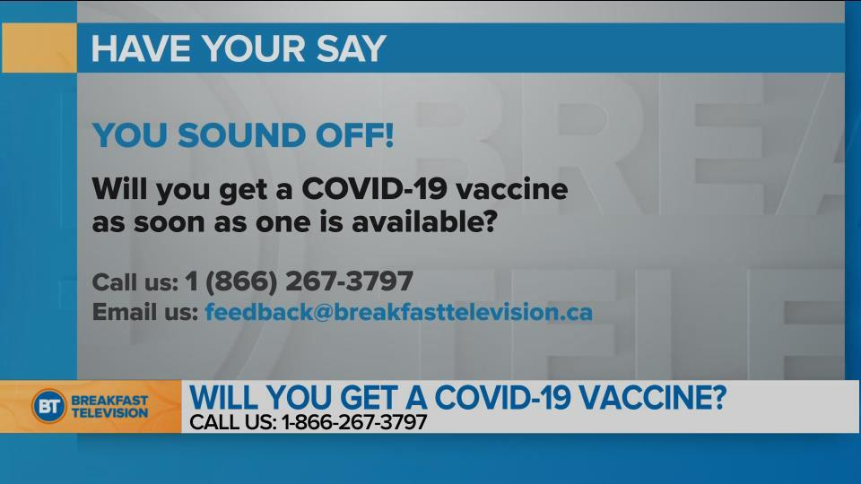 You Sound Off : Will you get a COVID-19 vaccine as soon as one is available?