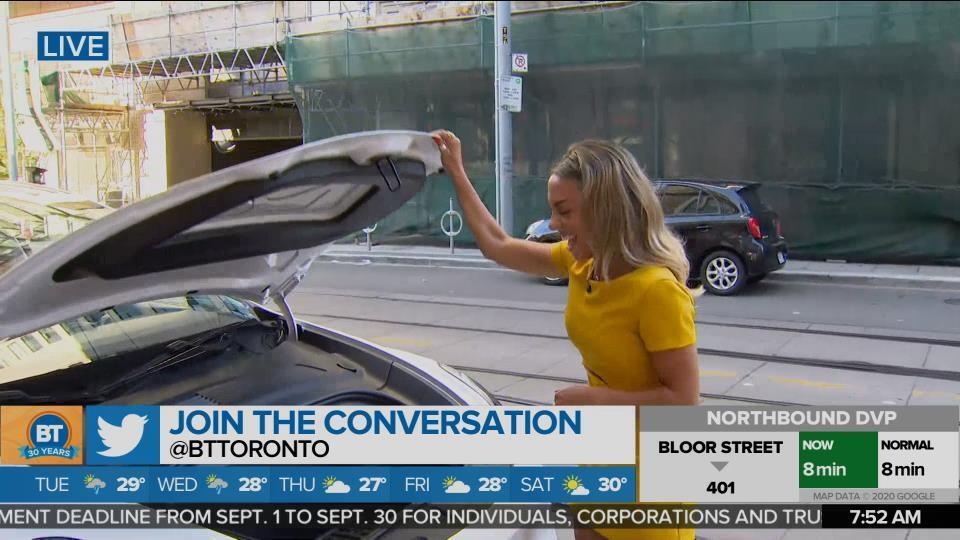 Nicole drives the Tesla Model Y