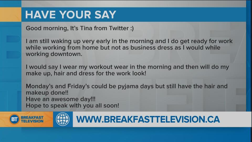 You Sound Off: what are you wearing while working at home?